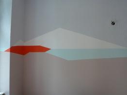 Wandgestaltung Foyer: Berge und Seen