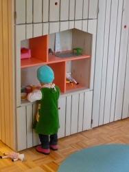 eingebautes Puppenhaus