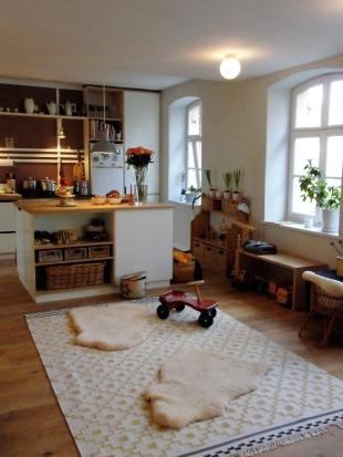 Küche - Spielzeugregal im Block