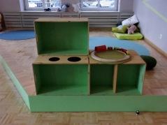 Spielküche aus Kistenmodulen