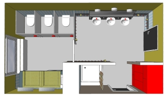 Waschraum und Wickelbereich