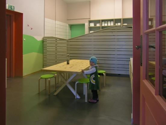 Mehrzweckraum Atelier und Verteilerküche