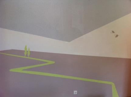 Wandgestaltung Elfenland - Feldweg