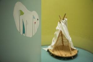 KIKADO - Spielinsel - (Boot / Zelt / Bühne)